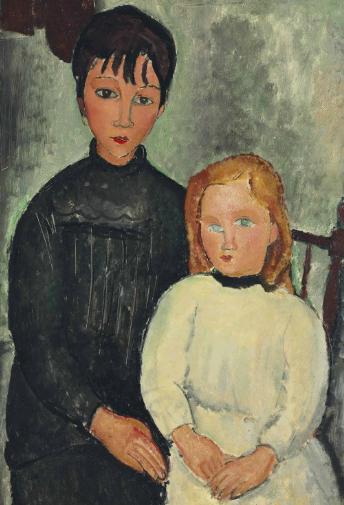 Amedeo-Modigliani-1884-1920-Les-Deux-Filles-1918-Via-Christies